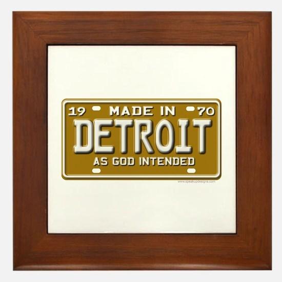 Made in Detroit Framed Tile