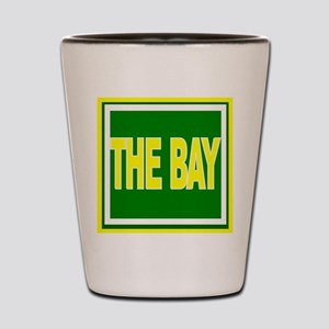 The Bay Green and Gold Shot Glass