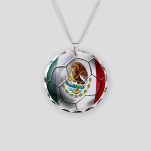 Futbol Mexicano Necklace Circle Charm