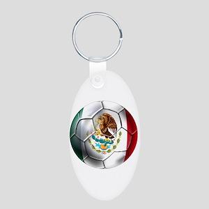 Futbol Mexicano Aluminum Oval Keychain