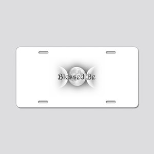 Blessed Be (triple crescent) Aluminum License Plat
