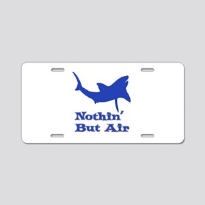 Leaping Great White Aluminum License Plate