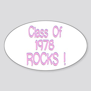 1978 Pink Oval Sticker