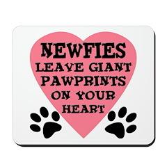 Newfoundland Dog Pawprints Mousepad