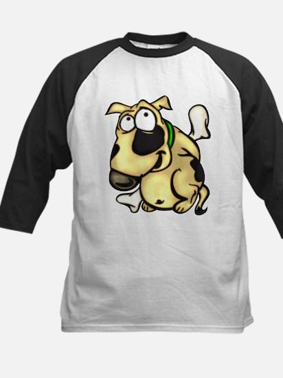 Puppy Dog and Bone Kids Baseball Jersey