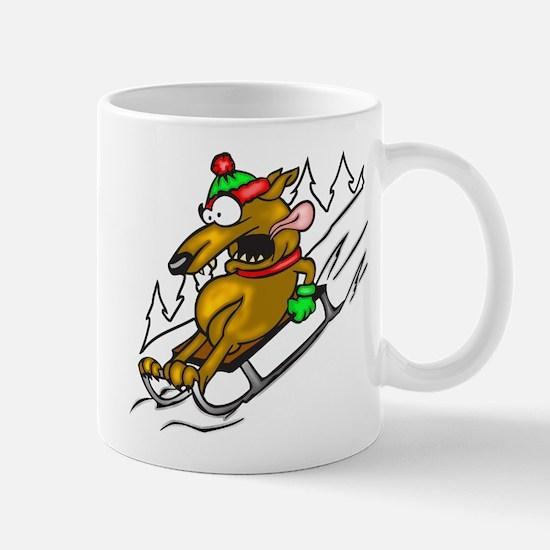 Snow Sledding Dog Mug