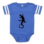 Lizard Art Baby Football Bodysuit