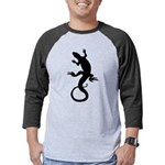 Lizard Art Mens Baseball Tee