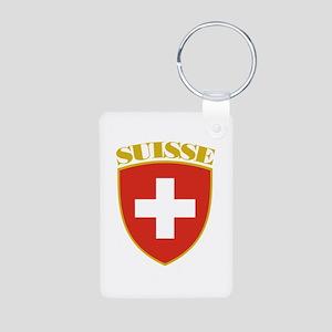 Suisse Aluminum Photo Keychain