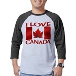 I Love Canada Souvenir Mens Baseball Tee