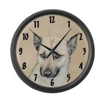 Chinook (Pointed Ears) Large Wall Clock