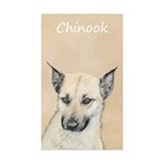 Chinook (Pointed Ears) Sticker (Rectangle 50 pk)