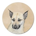 Chinook (Pointed Ears) Round Car Magnet