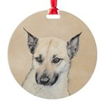 Chinook (Pointed Ears) Round Ornament