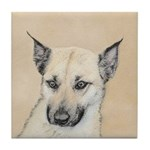 Chinook (Pointed Ears) Tile Coaster