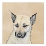 Chinook (Pointed Ears) Square Car Magnet 3