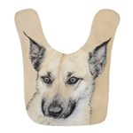 Chinook (Pointed Ears) Polyester Baby Bib