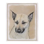 Chinook (Pointed Ears) Throw Blanket