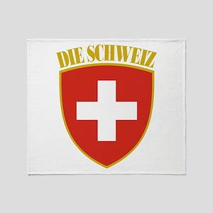 Die Schweiz Throw Blanket