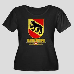 Bern Women's Plus Size Scoop Neck Dark T-Shirt