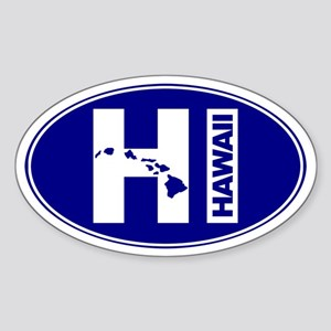HAWAII - Sticker (Oval)