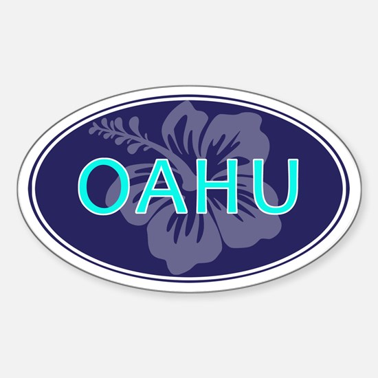 OAHU, HAWAII - Sticker (Oval)