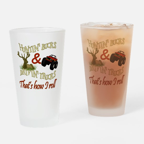 Funny Buck deer Drinking Glass