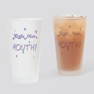 Miss Mouthy Drinking Glass