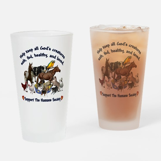 All Gods Creatures Drinking Glass