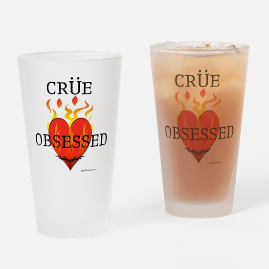 Crue Obsessed Drinking Glass