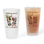 Cow Christmas Drinking Glass