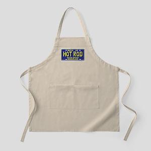 Hot Rod License Plate BBQ Apron