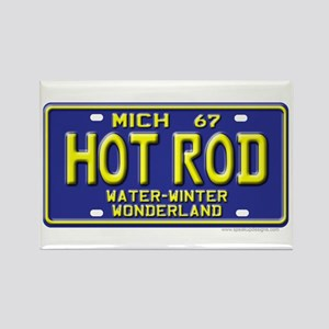 Hot Rod License Plate Rectangle Magnet