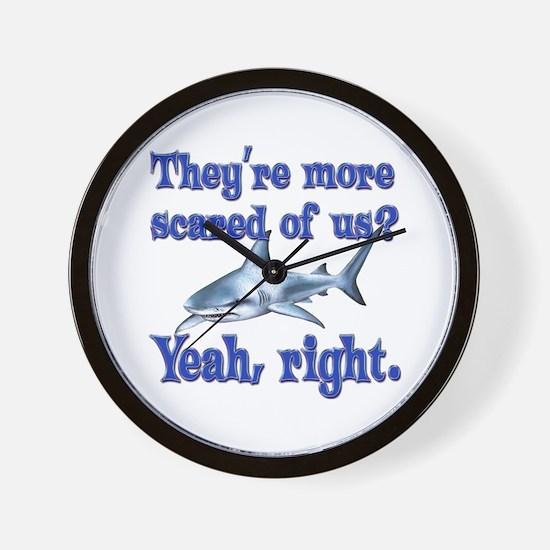 Scared Sharks Wall Clock