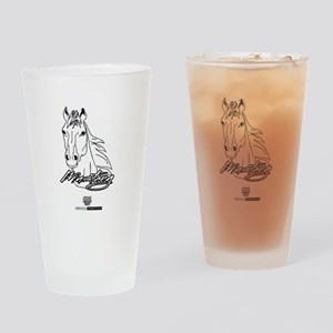 Mustang Horse white Drinking Glass