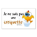 Je ne suis pas une croquette - Sticker (Rectangle)