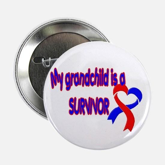 """grandchild_CHD_Survivor 2.25"""" Button (10 pack)"""