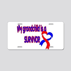 grandchild_CHD_Survivor Aluminum License Plate