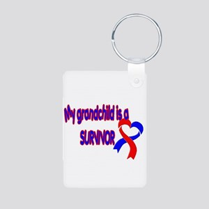 grandchild_CHD_Survivor Aluminum Photo Keychain