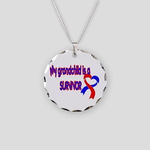 grandchild_CHD_Survivor Necklace Circle Charm