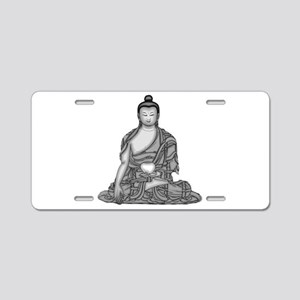 Meditating Buddha Aluminum License Plate