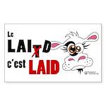 Le Lait c'est laid - Sticker (Rectangle 50 pk)