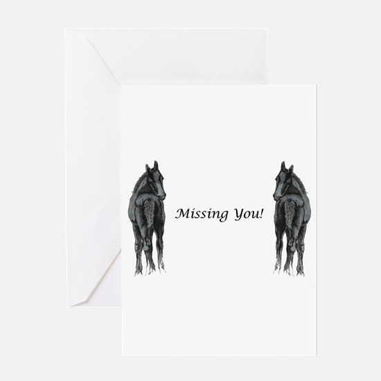 Two Foals Missing You Greeting Card