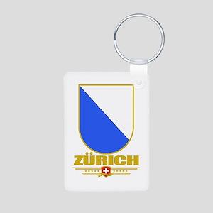 Zurich Aluminum Photo Keychain