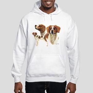 Brittany Spaniel Hooded Sweatshirt