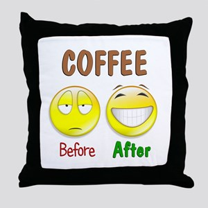 Coffee Humor Throw Pillow
