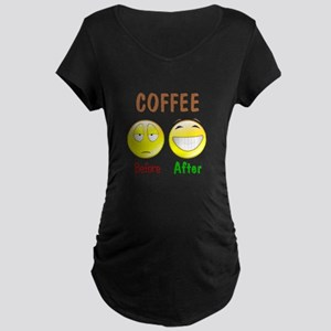 Coffee Humor Maternity Dark T-Shirt