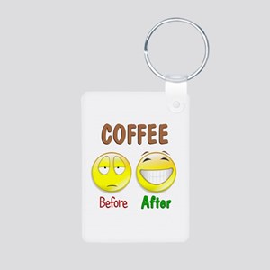 Coffee Humor Aluminum Photo Keychain