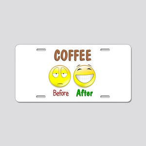Coffee Humor Aluminum License Plate