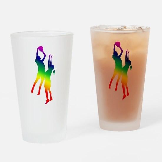 Women's Basketball Drinking Glass